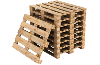 Stack of reconditioned pallets